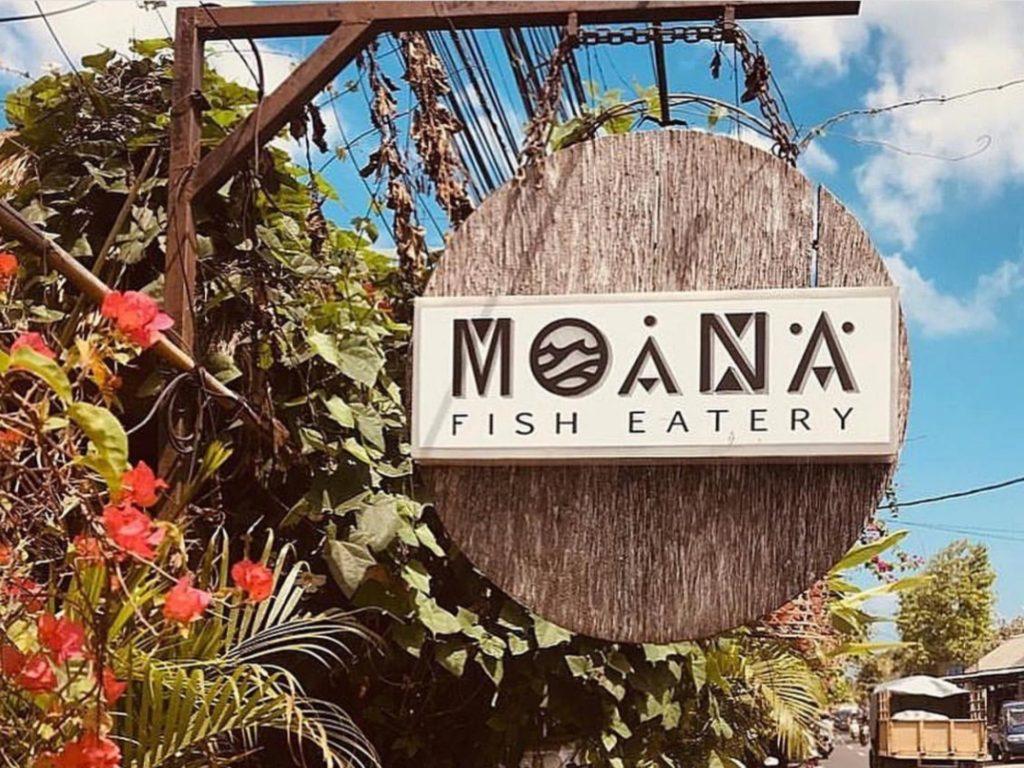 チャングー、タヒチアンレストランMoana,看板