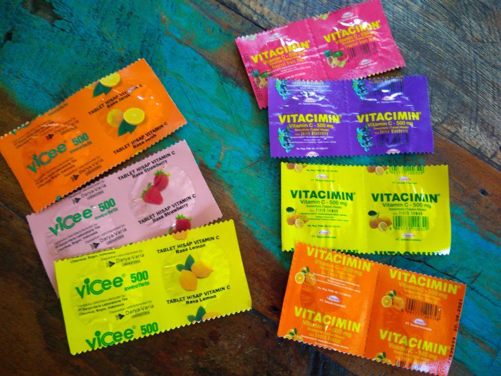 バリ島薬コーナーで買えるビタミン