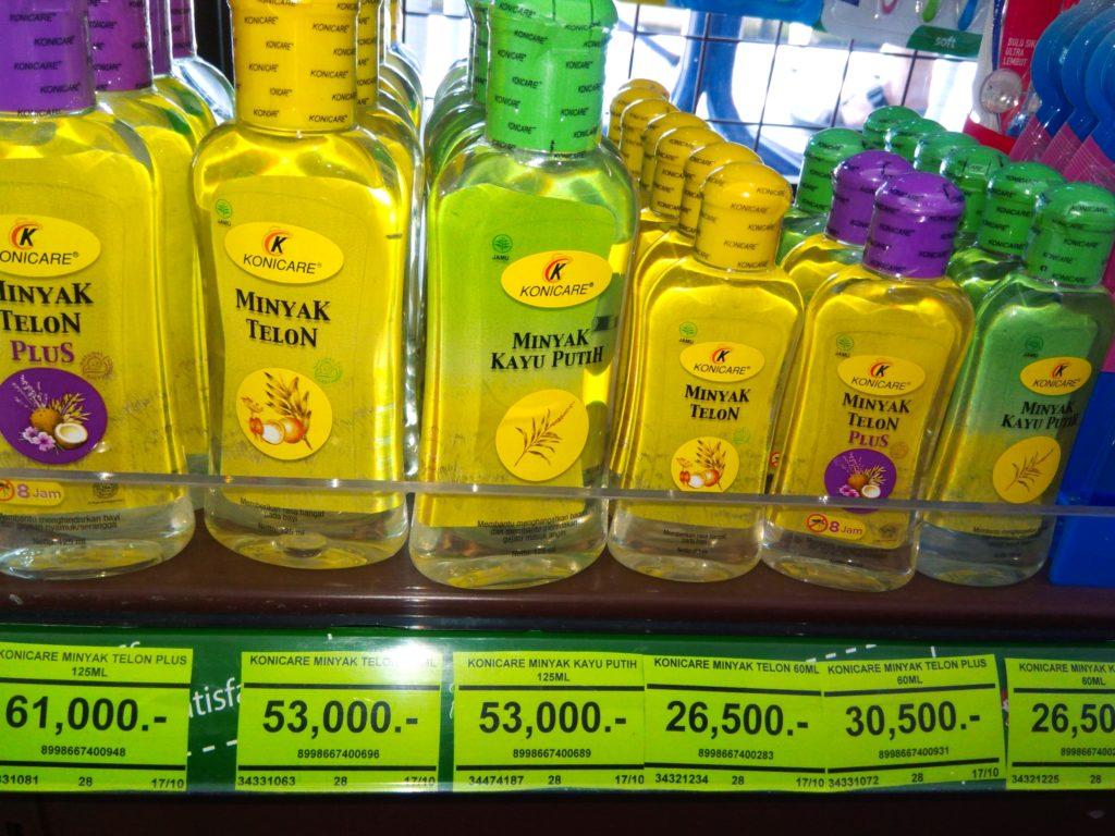 バリ島薬コーナーで買える万能オイル「ミニャッ テロン」