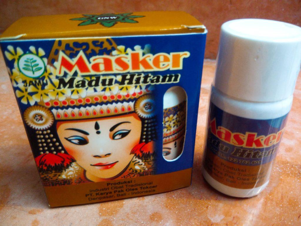 バリ島薬コーナーで買える「Masker Madu Hitam」