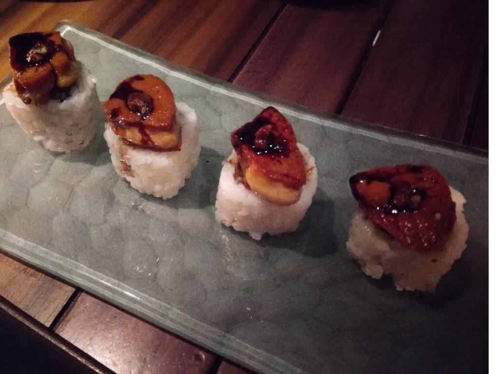 フォアグラの寿司!