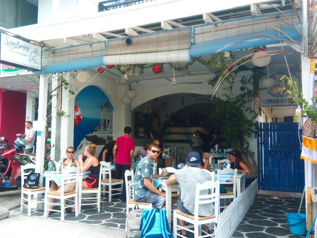 チャングーのギリシャレストラン「Sanrtorini」