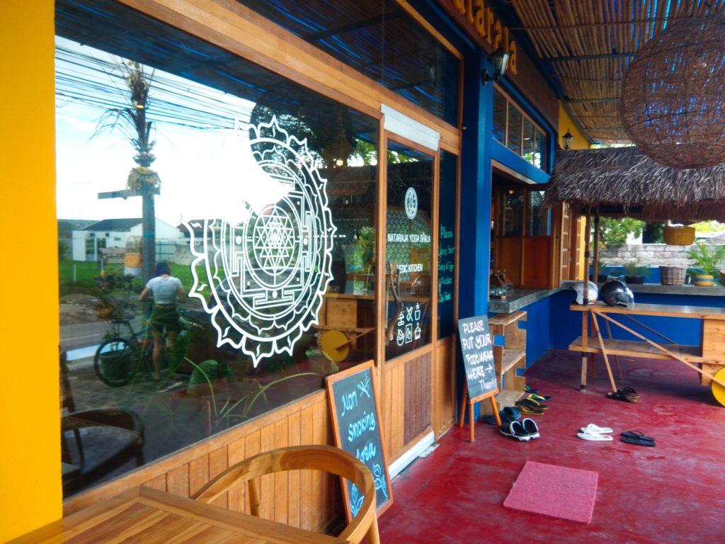 バリ島クロボカンのヨガシャラ&ベジタリアンレストラン、入り口