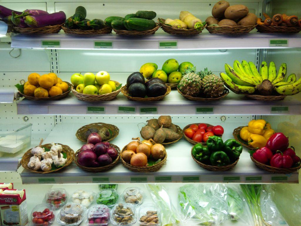 オーガニックショップ野菜