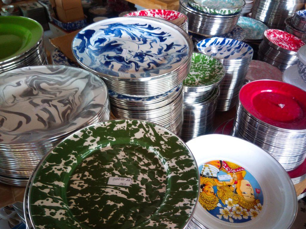 バリ島食器UD.NURIAHホーローお皿