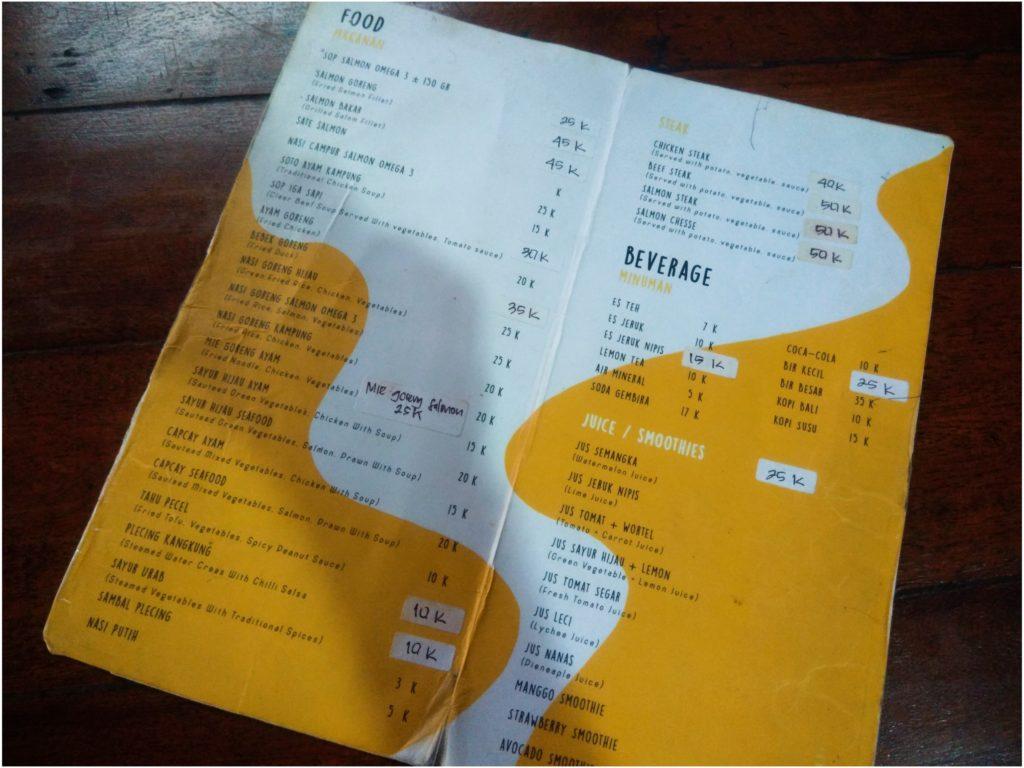 クロボカン穴場レストラン、サーモンスープの店メニュー