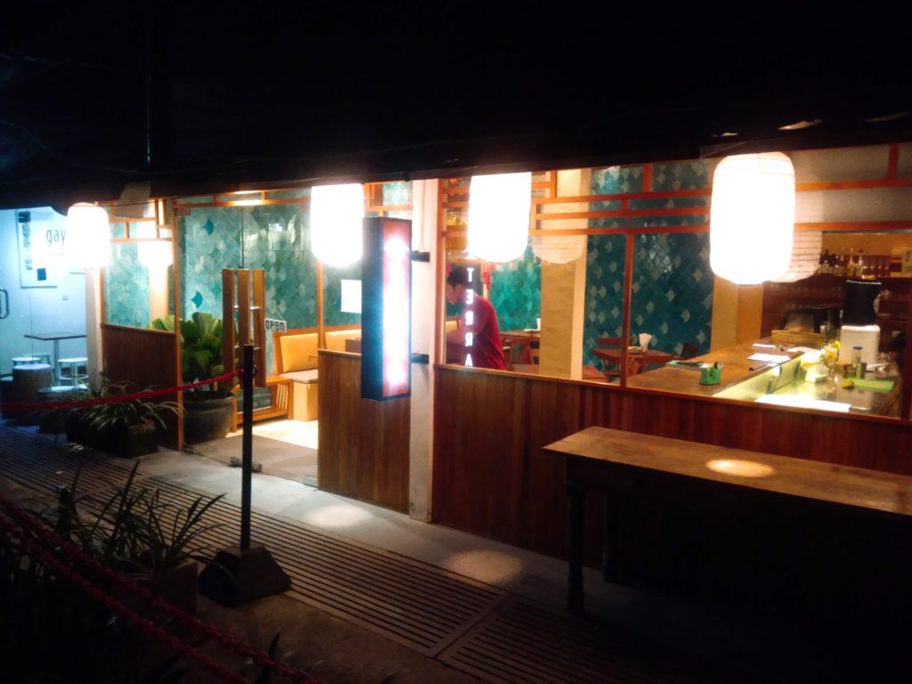 チャングーの居酒屋風ジャパニーズレストラン、外観