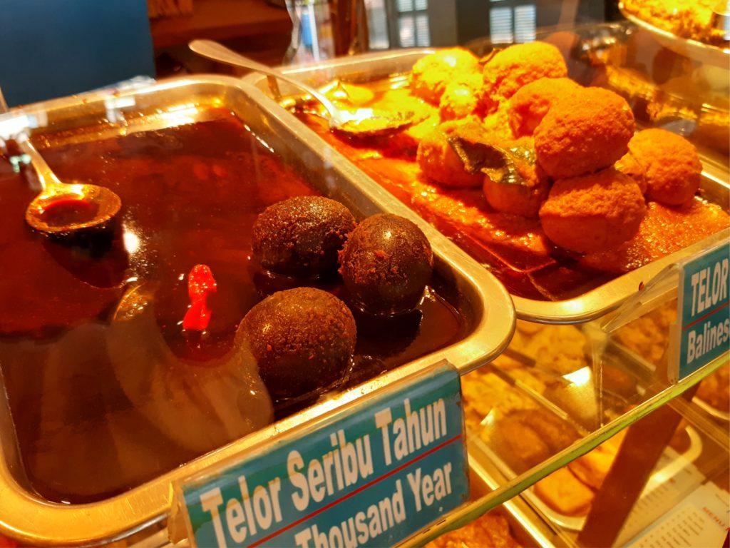 バリ島ハラールナシチャンプル、ワルンコレガの卵