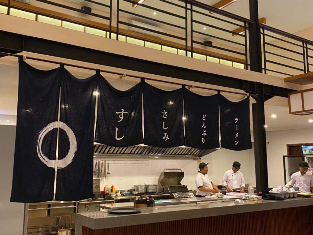 バリ島チャングー日本食、寿司レストランenso寿司カウンター