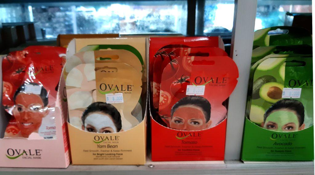 バリ島コスメ、Ovaleフェイスマスク