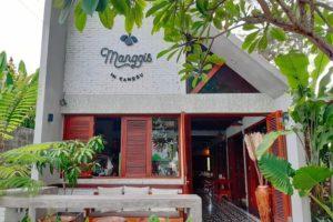チャングーのヴィーガンレストラン「Manggis」外観