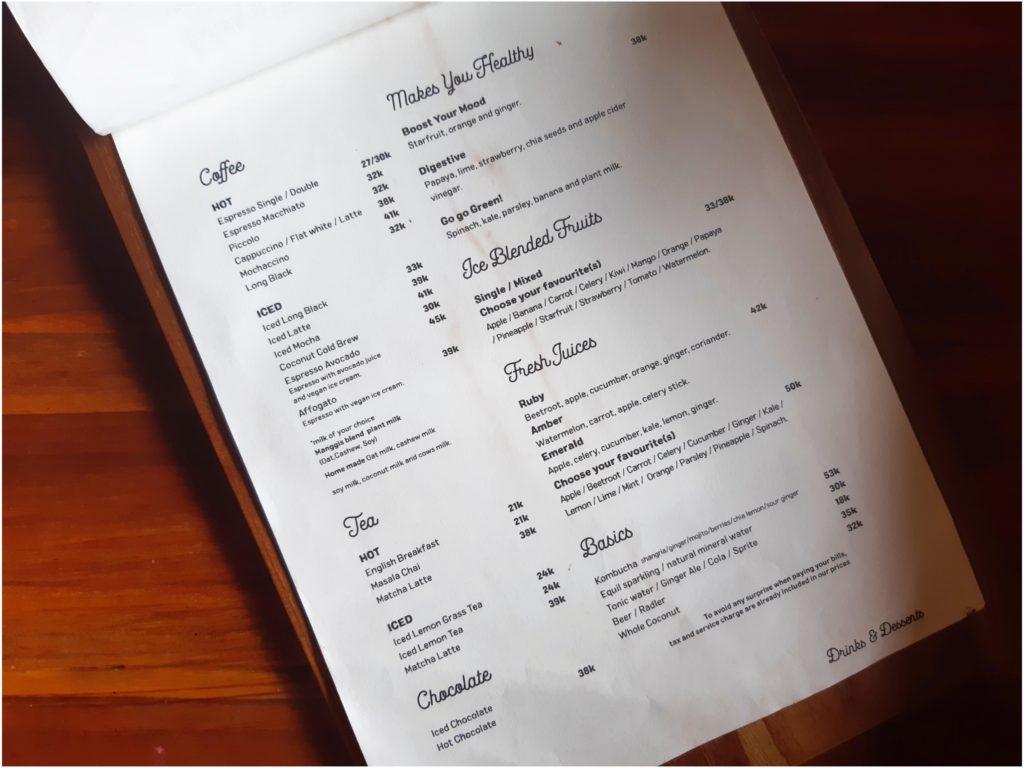 チャングーヴィーガンレストラン「Manggis」コーヒー