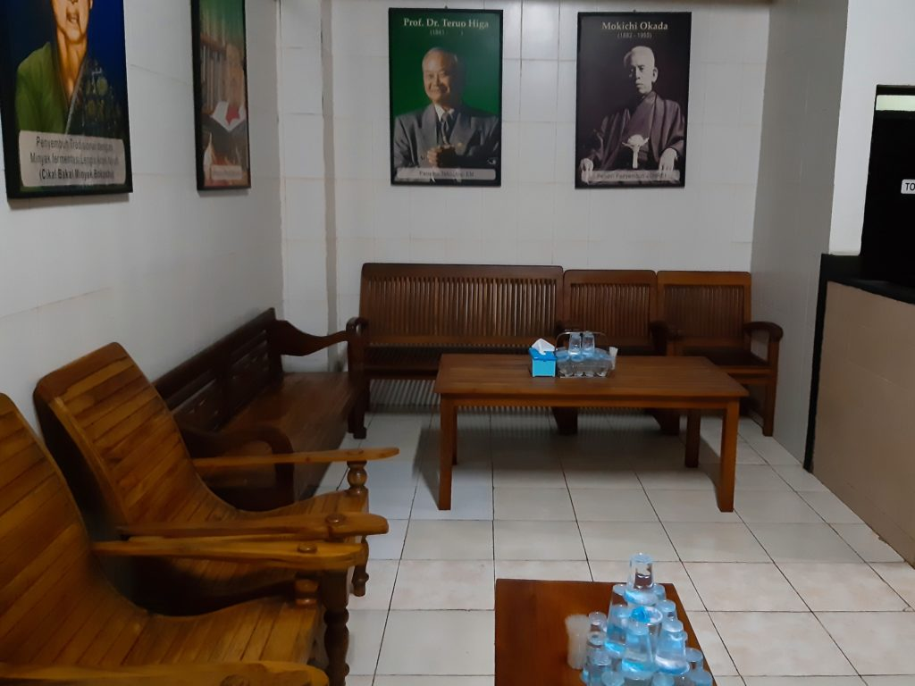 バリ島酵素スパ、ボカシテラピー室の休憩場所
