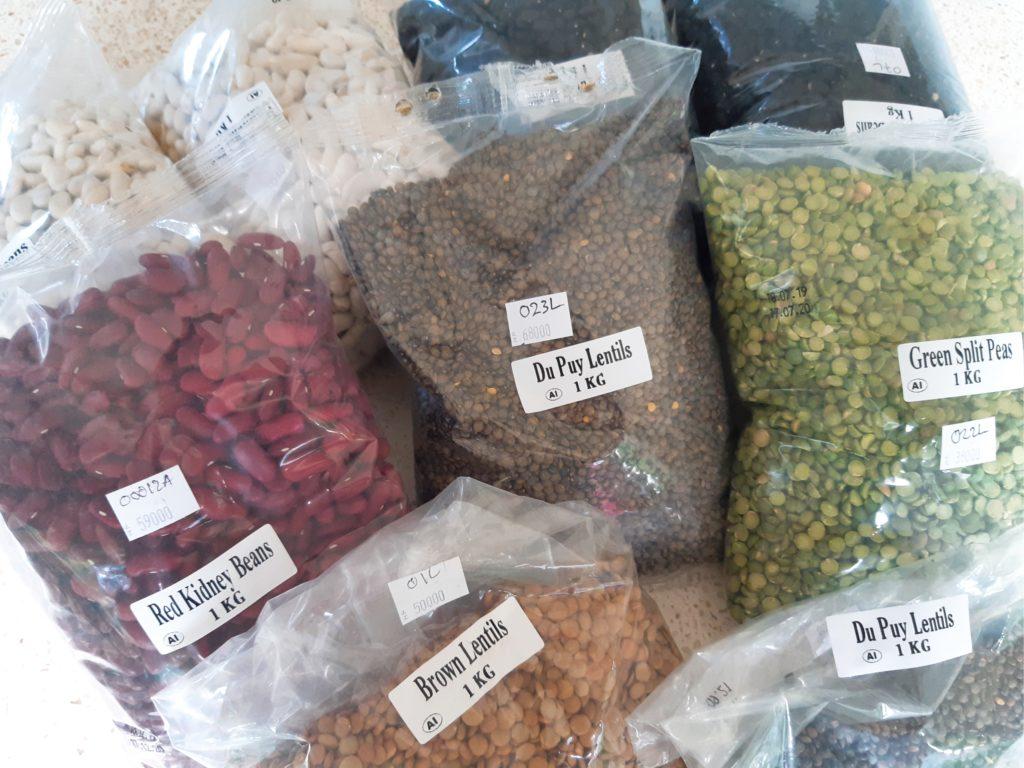 バリ島外出自粛生活、備蓄食品豆