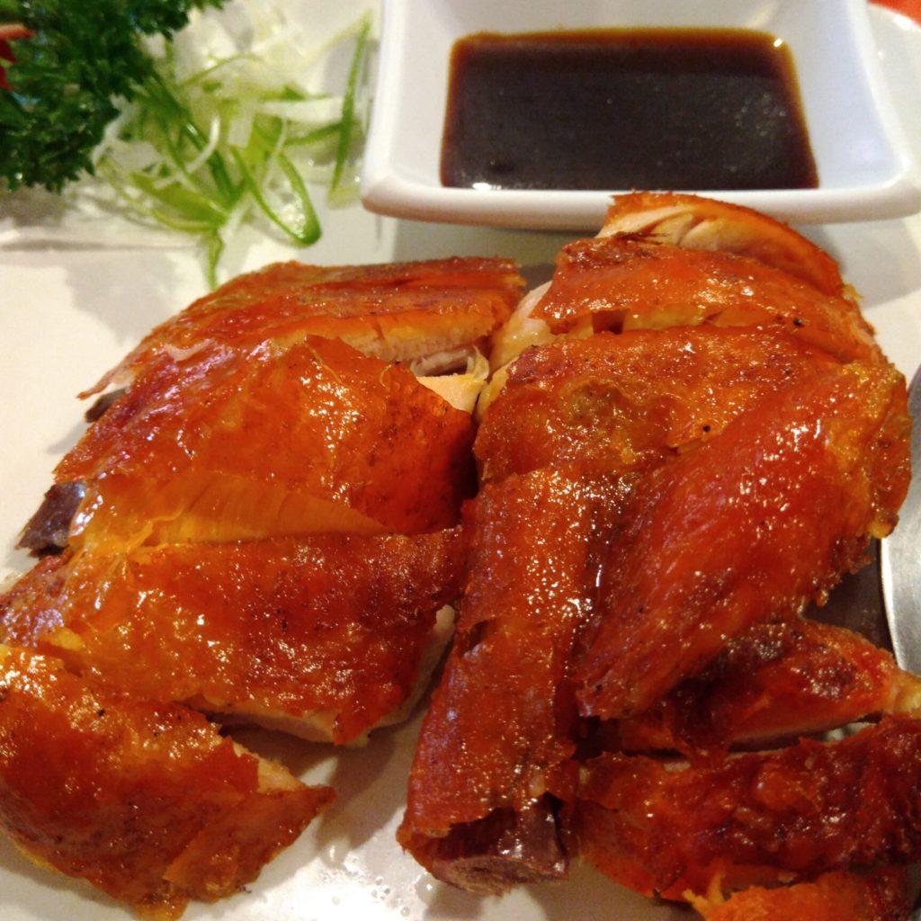 バリ島中華料理、香港レストランの中華風ロースト肉