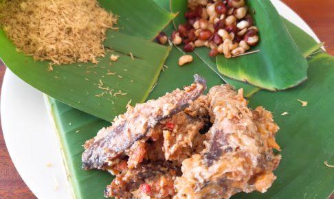 インドネシア料理・バリレシピのイカンピンダン盛り付け