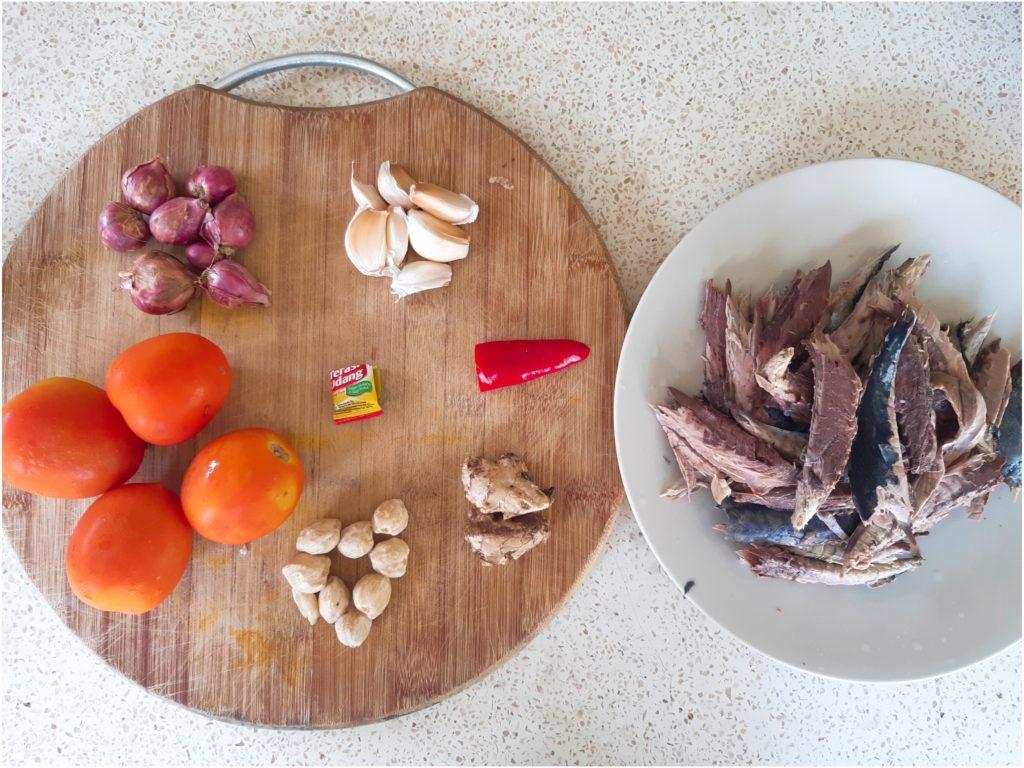 インドネシア料理、バリレシピのイカンピンダン材料