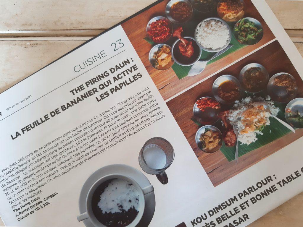 バリ島レストラン「Piling Daun」gazetta