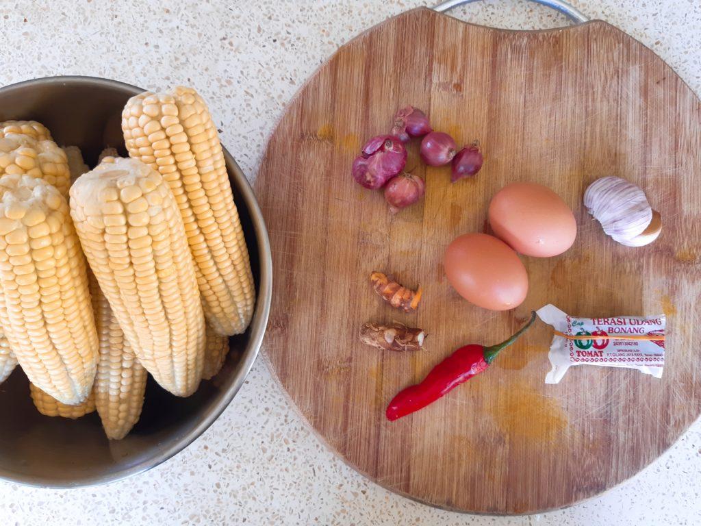 お家で簡単インドネシア料理!コーンフリッター材料