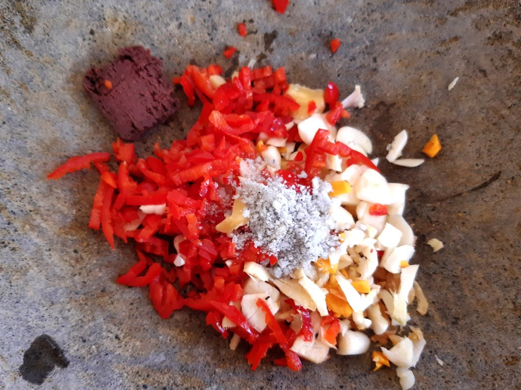バリ島の味、サユールウラップブンブ作り