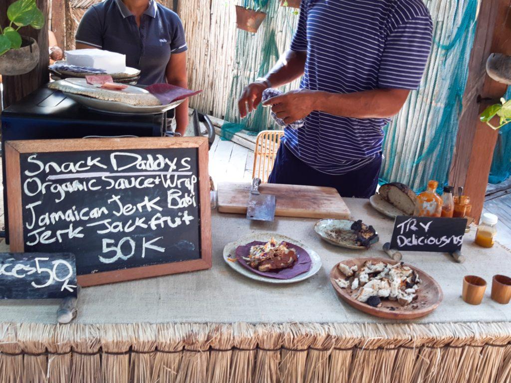 チャングーLa Brisaマーケットのポークラップの店