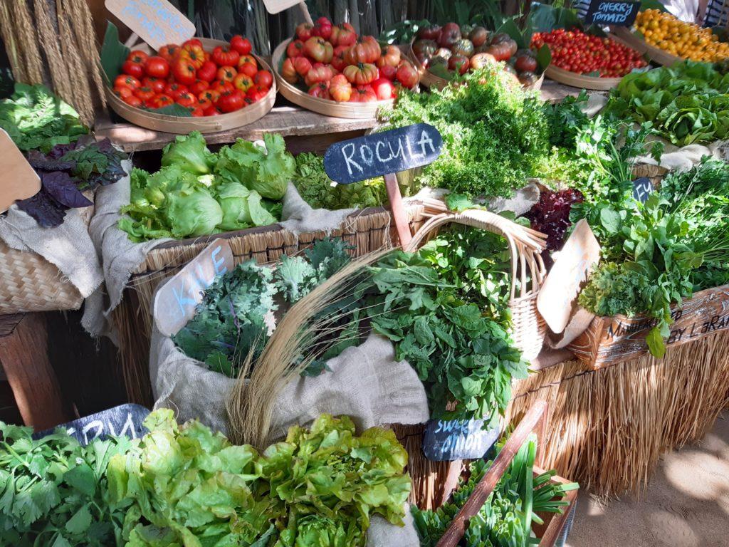 バリ島チャングービーチクラブLa Brisaオーガニックマーケット葉物野菜