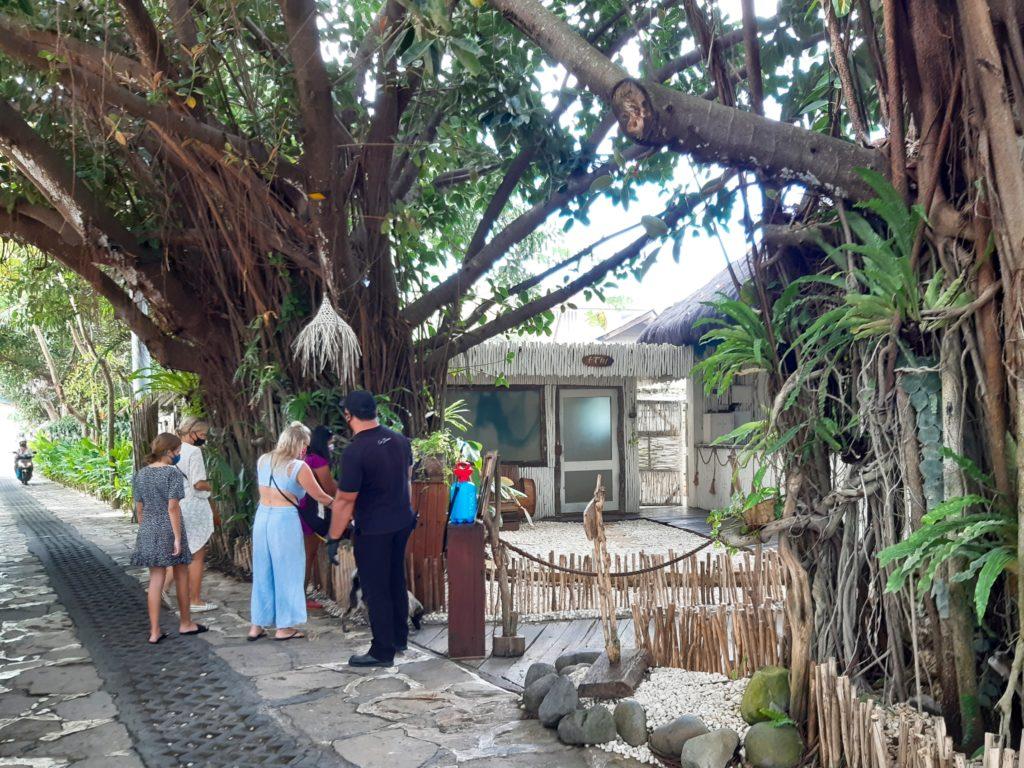 バリ島ンチャングービーチクラブLa Brisaマーケット入り口
