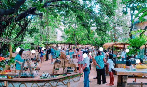 バリ島チャングービーチクラブLa Brisaのマーケットはマスクしてない