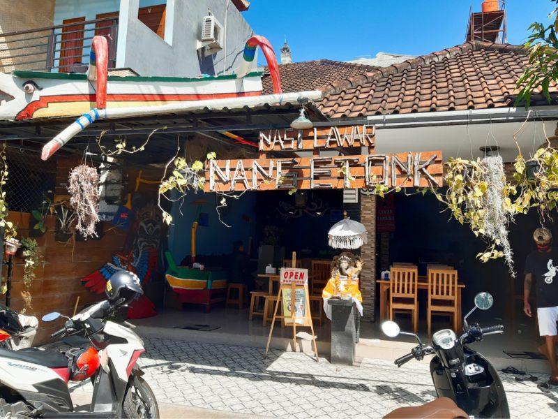 バリ料理タコのラワールのワルン、Nang Etok