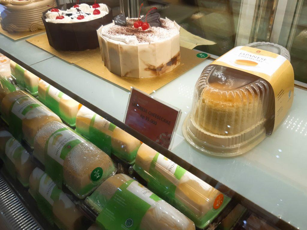 バリ島パン&ケーキ屋ホーランドベーカリーのチーズケーキ